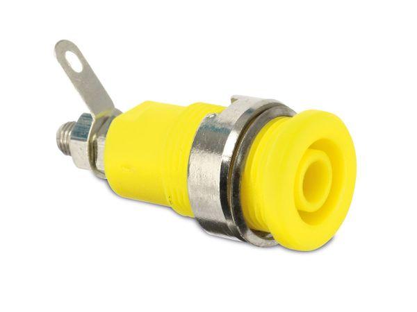 Sicherheits-Einbaubuchse, CAT III, 32 A, 4 mm, gelb
