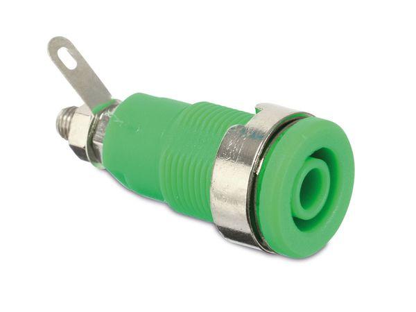 Sicherheits-Einbaubuchse, CAT III, 32 A, 4 mm, grün