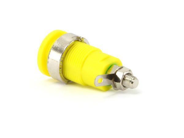 Sicherheits-Einbaubuchse, CAT III, 32 A, 4 mm, grün/gelb - Produktbild 1