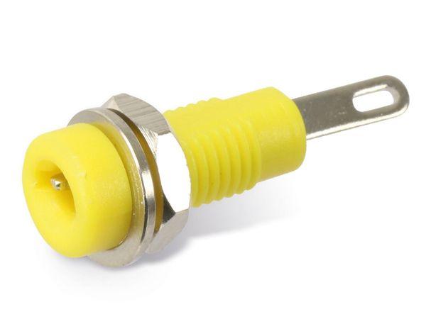 Zwerg-Einbaubuchse 2 mm, gelb - Produktbild 1