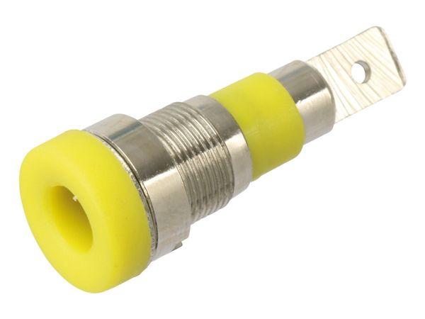 Einbaubuchse 4 mm, 24 A, gelb