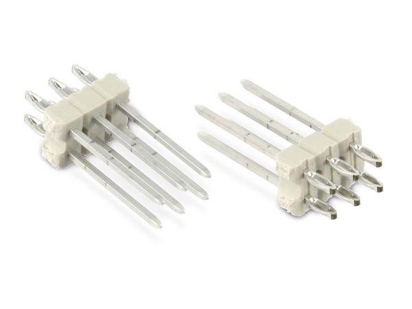Stiftleiste, 2x 3-polig, 10 Stück
