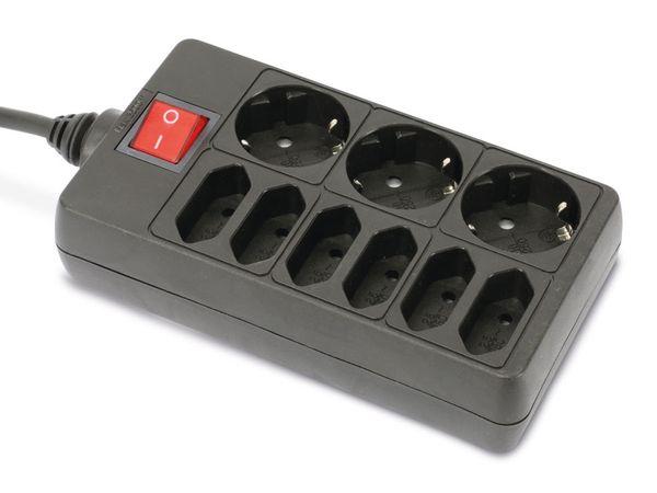 Steckdosenleiste DAYHOME SLS-36/S, 9-fach, schwarz