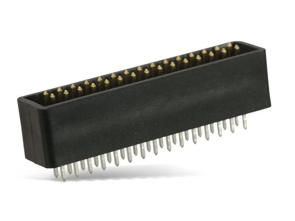 Wannen-Stiftleiste, vergoldet, 2x 15-polig - Produktbild 1