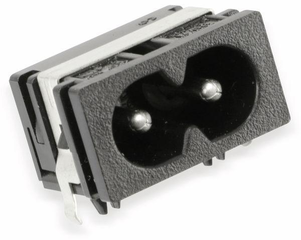 Doppelnut-Netzbuchse HJC-038, C8, 90°, Printmontage - Produktbild 1