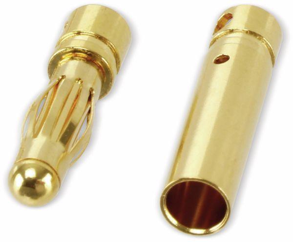 Goldkontakt-Steckerset, 4 mm, 5 Paare - Produktbild 2