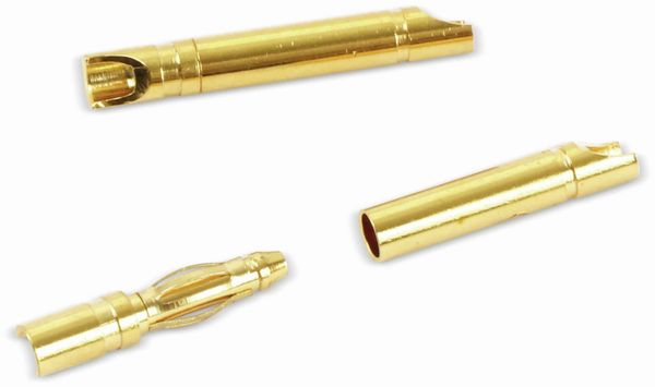 Goldkontakt-Steckerset, 2 mm, 5 Paare