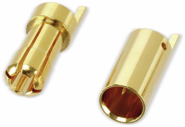 Goldkontakt-Steckerset, 5,5 mm, 5 Paare