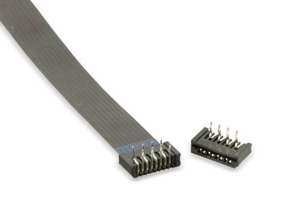 Flexprint-Verbindungsset, 8-polig, RM 1,25, 130mm