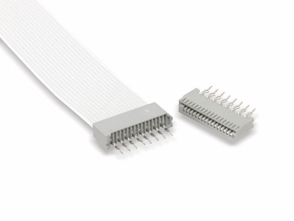 Flexprint-Verbindungsset, 16-polig, RM 1,25, 110mm