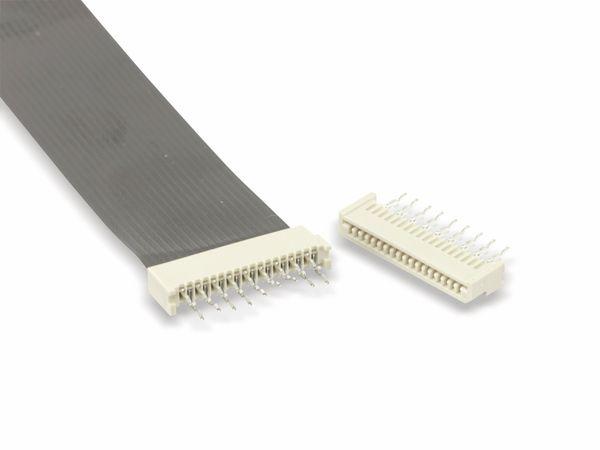 Flexprint-Verbindungsset, 18-polig, RM 1,25, 150mm