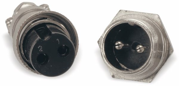 Steckverbinder-Set GX16-2, 2-polig - Produktbild 5