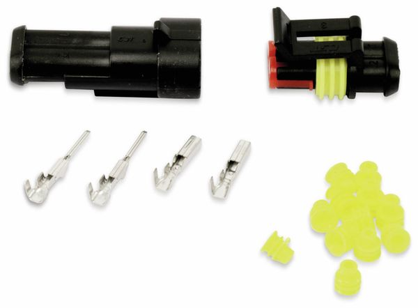 Wasserdichtes Steckverbinder-Set, IP65, 2-polig
