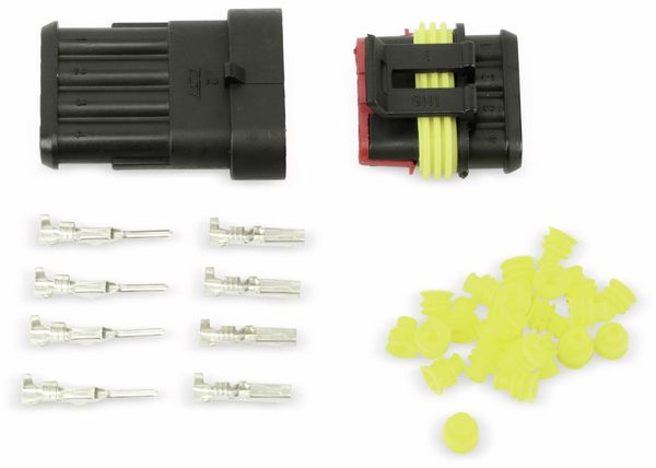Wasserdichtes Steckverbinder-Set, IP65, 4-polig