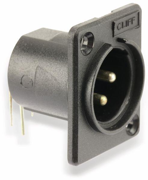 XLR-kombatibler Einbaustecker CLIFF CP30005 - Produktbild 1