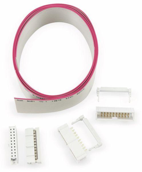 Flachbandleitung-/Stecker-Set, 20-polig, Länge 1 m - Produktbild 1