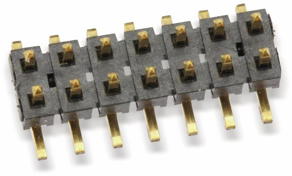 SMD Flachprofil-Stiftleiste SAMTEC TMM-107-05-G-D-SM-A, 14-polig - Produktbild 1