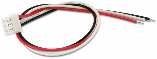 XH-Anschlussleitung mit Kupplung, 180 mm, 3-polig