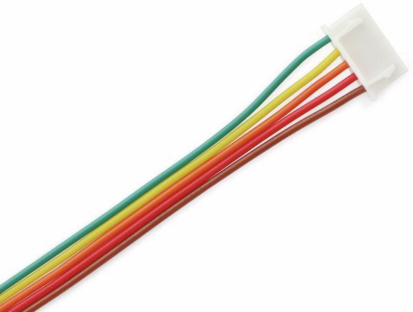 XH-Anschlussleitung mit Kupplung, 180 mm, 5-polig