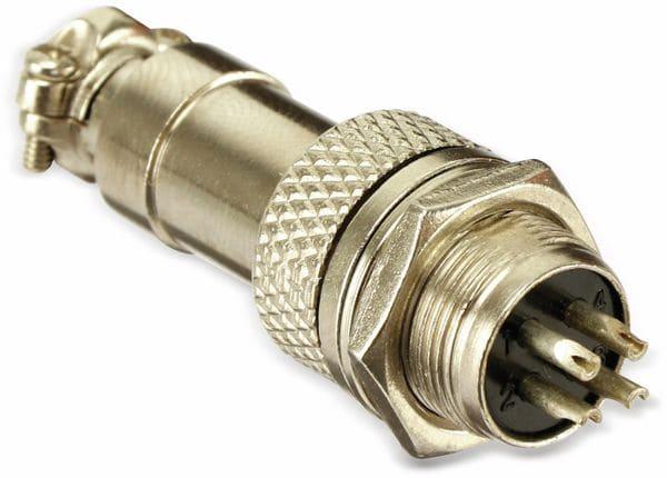 Steckverbinder-Set GX12-4, 4-polig