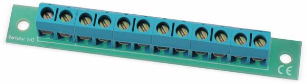 Stromverteiler 1x 12-polig, V1x12, mit Schraubklemmen