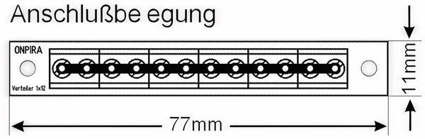 Stromverteiler 1x 12-polig, V1x12, mit Schraubklemmen - Produktbild 2