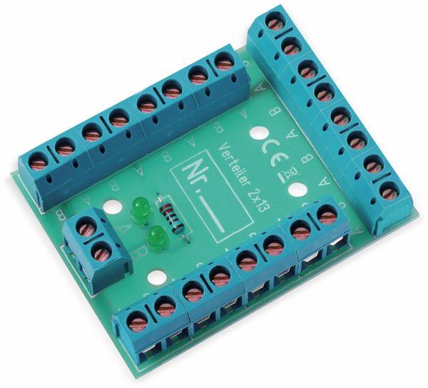 Stromverteiler 2x 13-polig, V2x13, mit Schraubklemmen und Kontrollleuchten