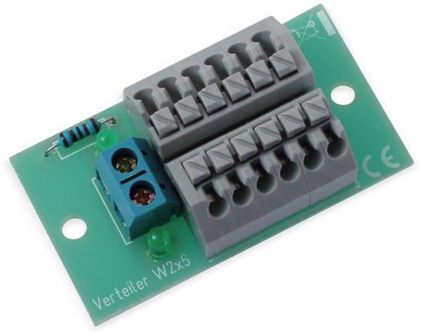 Stromverteiler 2x 6-polig, W2x6, mit Steckklemmen und Kontrollleuchten