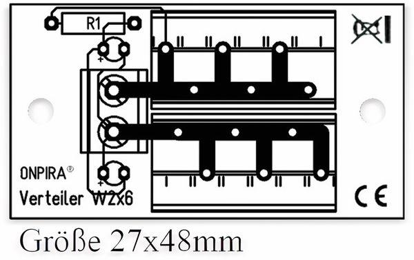Stromverteiler 2x 6-polig, W2x6, mit Steckklemmen und Kontrollleuchten - Produktbild 2