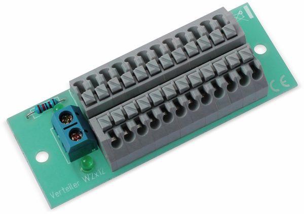 Stromverteiler 2x 12-polig, W2x12, mit Steckklemmen und Kontrollleuchten - Produktbild 2