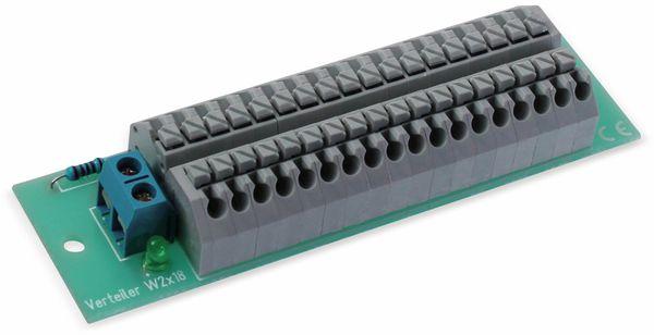 Stromverteiler 2x 18-polig, W2x18, mit Steckklemmen und Kontrollleuchten - Produktbild 2