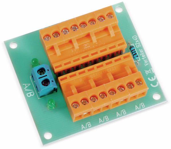 Stromverteiler 2x 8-polig, S2x4D, mit 8 Steckern und Kontrollleuchten