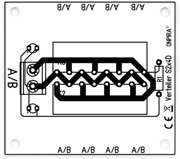 Stromverteiler 2x 8-polig, S2x4D, mit 8 Steckern und Kontrollleuchten - Produktbild 3