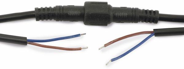 Wasserdichtes Steckverbindungsset, Stecker/Kupplung, 2 m, 2-polig