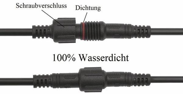 Wasserdichtes Steckverbindungsset, Stecker/Kupplung, 2 m, 2-polig - Produktbild 3