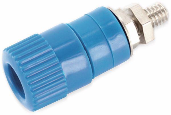 Polklemme, M4, 25 A, 4 mm, blau