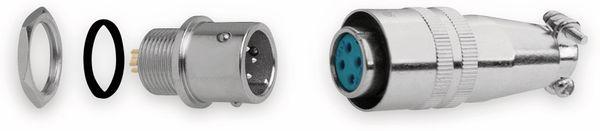 Einbaustecker-Set Ø 8mm 4-Pin mit Federverschluss - Produktbild 3