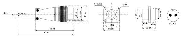 Einbaustecker-Set, 2-pol., Ø 16mm, mit Schraubverschluss und Schutzkappe - Produktbild 2