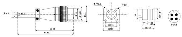 Einbaustecker-Set, 4-pol., Ø 16mm, mit Schraubverschluss und Schutzkappe - Produktbild 2