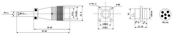 Einbaustecker-Set, 6-pol., Ø 16mm, mit Schraubverschluss und Schutzkappe - Produktbild 2