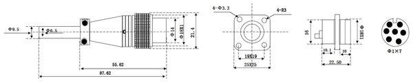 Einbaustecker-Set, 7-pol., Ø 16mm, mit Schraubverschluss und Schutzkappe - Produktbild 2