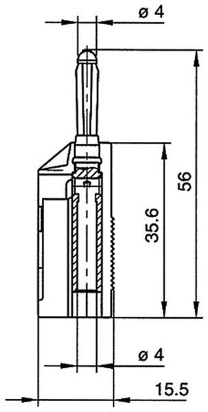 HIRSCHMANN Büschel-Stecker BSB 20 K blau - Produktbild 2