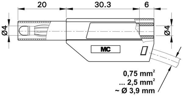STÄUBLI SLS425-SE/N Sicherheitsstecker 4mm rot - Produktbild 2