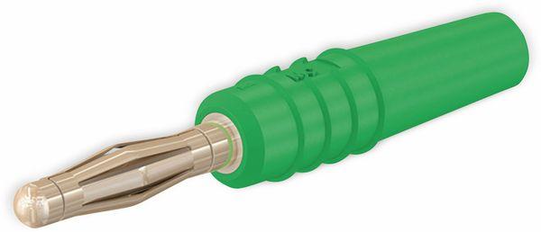 STÄUBLI SLS205-L Lammellenstecker, 2 mm, vergoldet, grün