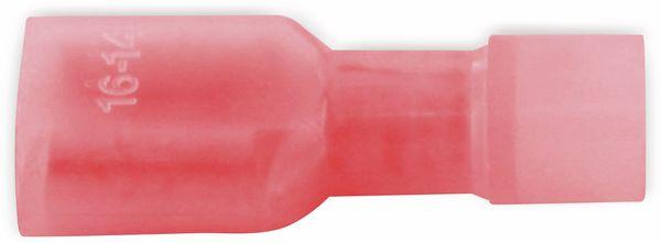 VOGT Flachsteckhülse 6,3x0,8 mm, isoliert, rot, 100 Stück