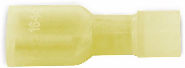 VOGT Flachsteckhülse 6,3x0,8 mm, isoliert, gelb, 100 Stück