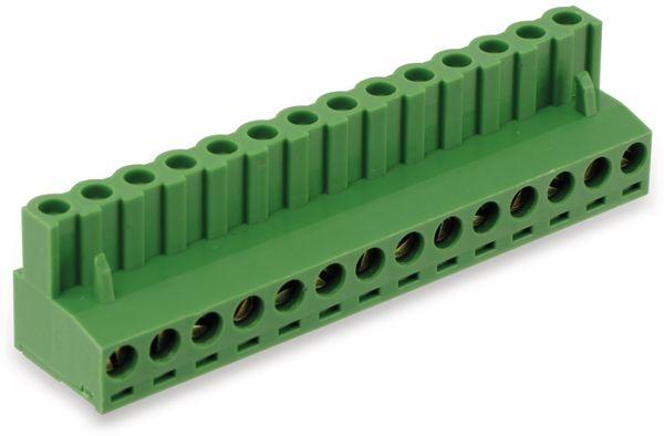 Leiterplattenanschlussklemme, 14pol.. RM5,08 mm, 10A