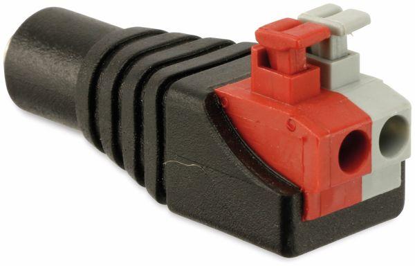 Hohlkupplungsadapter, 5,5/2,1 mm auf Steckklemmen