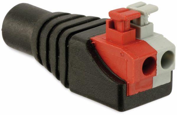 Hohlkupplungsadapter, 5,5/2,5 mm auf Steckklemmen