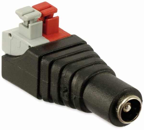 Hohlkupplungsadapter, 5,5/2,5 mm auf Steckklemmen - Produktbild 2